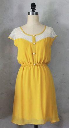 Petit Dejeuner Dress Mustard