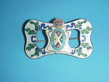 Sterling Enameled Pin Condordia Salus Antique Montreal Canada Coat of Arms