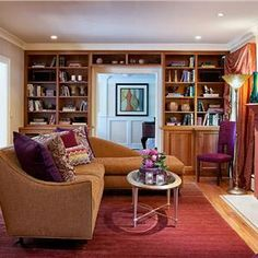 Transitional (Eclectic) Living & Family Room by Barbara Feinstein