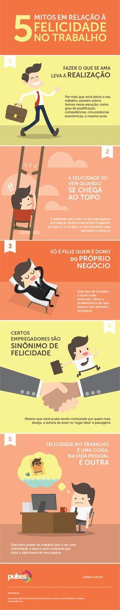 5 mitos em relação à felicidade no trabalho - Pulses