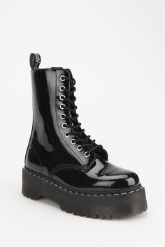 Black platform boots from Agyness Deyn For Dr. Martens (Style: Aggy 1490).