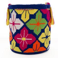 Authentic Wayuu Mochila Bag - Single Thread - : Colombian Made Tapestry Bag, Tapestry Crochet, Mochila Crochet, Knit Or Crochet, Crochet Bags, Cement Crafts, Crochet Accessories, Purses And Bags, Cross Stitch