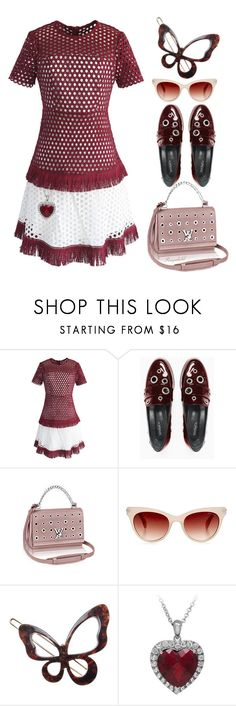 """""""Eyelet"""" by ragnh-mjos ❤ liked on Polyvore featuring Chicwish, Max&Co. and France Luxe"""