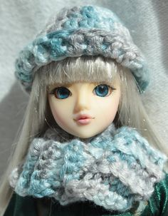 Infinity Scarf and Hat for 1/6 BJD or Barbie by SnootyCow on Etsy