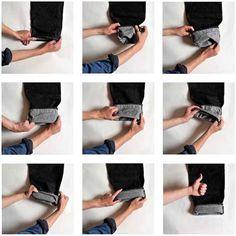 Como dobrar a barra da calça.