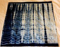 Folded and bound shibori napkin - indigo dyed | Rob Jones, December 2014