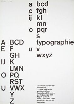 Gewerbemuseum Basel Typografie, by Robert Büchler (1960)