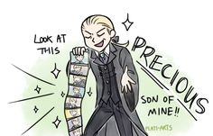 Raven wings — a couple of Dad Draco things we all need: Dad. Harry Potter Comics, Mundo Harry Potter, Harry Potter Ships, Harry Potter Drawings, Harry Potter Anime, Harry Potter Jokes, Harry Potter Fan Art, Harry Potter Universal, Harry Potter Fandom