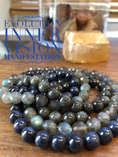 A stunning trio of Black Jade, highly iridescent Labradorite and precious Blue Sapphire.  These healing gems help to banish fears & strengthen faith in the self & trust in the universe. healing jewelry | labradorite | black jade | sapphire|healing crystal jewelry | handmade jewelry | zen jewelz | zenjen