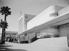 The art deco style National Broadcasting Company recording studios stand on the corner of Sunset Boulevard and Vine.