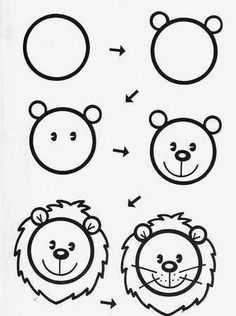 Learn To Draw Animals - Drawing On Demand Drawing Lessons For Kids, Easy Drawings For Kids, Art Lessons, Art For Kids, Doodle Drawings, Cartoon Drawings, Doodle Art, Animal Drawings, Desenho Kids