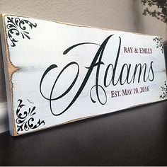 Family Established Wedding Sign, – Quote Signs, Wall Art, Canvas Art and Family Signs for LDS Families Rustic Signs, Wooden Signs, Wooden Boards, Painted Boards, Rustic Barn, Established Family Signs, Family Name Signs, Family Names, Signs About Family