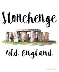 Increíble 'Stonehenge' por creativelolo Monumento de Stonehenge de la antigua In. Stonehenge, Architect Sketchbook, World Map Painting, Cute Laptop Stickers, City Drawing, Simple Nail Art Designs, Travel Illustration, Doodle Patterns, Country Art