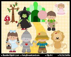Wizard of Oz Clip Art  Commercial Use Graphic by ResellerClipArt