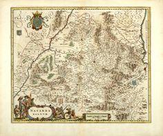 """Blaeu. """"Navarra Regnum"""". Mapa general (1640)"""