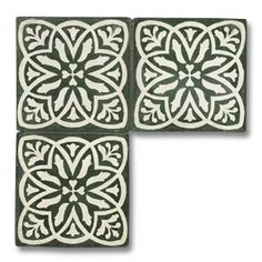 Moroccan Tile Handmade tiles can be colour coordinated and customized re. shape, texture, pattern, etc. by ceramic design studios