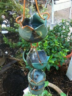 ceramic rain chain & Rain chain. Itu0027s just like a drain pipe but much prettier. They even ...