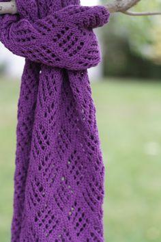 Purple Diamond Checkerboard Lace Scarf. 100% charity donation to International Justice Mission. $90 #knitting Purple Diamond, Purple Things, Donate To Charity, Lace Scarf, Purple Glitter, Fashion Accessories, Passion, Knitting, Pretty