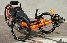 Expedition on Fire: Custom Catrike Expedition Recumbent Trike from Utah Trikes