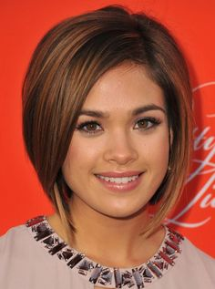 2014 Nicole Gale Anderson's Short Hairstyles: Textured Straight Bob