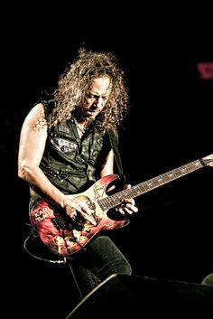 Kirk Hammett- Metallica. One of the best guitarists known to man.