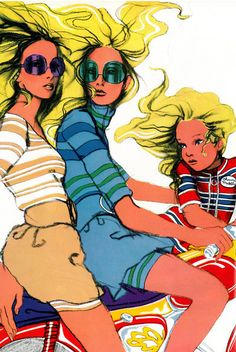 A gorgeous illustration by Antonio Lopez,1968.