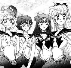 Sailor Moon Villains, Sailor Moon Manga, Sailor Moon Art, Sailor Jupiter, Sailor Venus, Sailor Mars, Sailor Moon Crystal, Cristal Sailor Moon, Old Anime