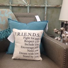 Shopping online? These pillows are in stock and ready to ship! Friends. Can't do life without my friends!