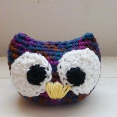 Cute big eyed owl at SixthandDurian.etsy.com #etsy #etsyseller #owl #crochet #morningcupofjo #handmade #amigurumi #amigurumiowl #hsndmadedoll #crochetamigurumi