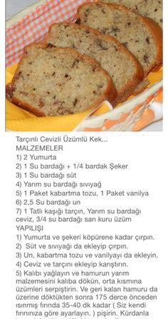 Tarcinli cevizli uzumlu kek