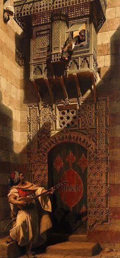 'A serenade in Cairo.' Artist Carl Haag 1820-1915 ---- gorgeous piece of art.