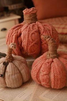 Sweater Sleeve Pumpkins
