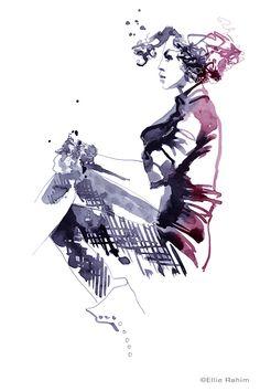 Rahim, E. 2015. Ellie's Women. Ellie Rahim Portfolios. Fashion Illustration. Viewed 1 Aug 2015.