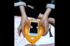 Bet You Didn't Know You Could Make A Phone Case Out Of A Balloon........an inexpesive concept.