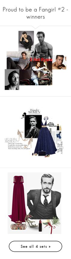 """""""Proud to be a Fangirl #2 - winners"""" by surfernurd ❤ liked on Polyvore featuring men's fashion, menswear, hot, ryangosling, eyecandy, RyanReynolds, RyanPhillippe, Philips, Elie Saab and Sophia Webster"""