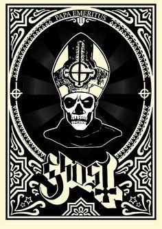 "namelessartificem: "" Ghost B.C. - Papa Emeritus II by PsychoBram """