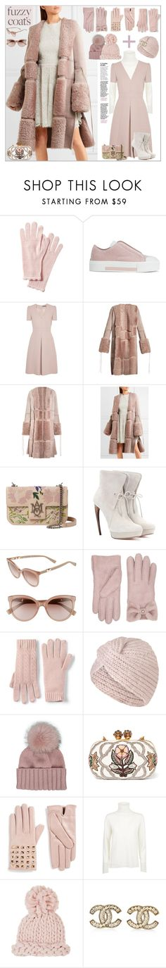 """""""Keep it Cozy: Fuzzy Coats"""" by yours-styling-best-friend ❤ liked on Polyvore featuring Alexander McQueen, MaxMara, UGG, Lands' End, Inverni, Valentino, Barneys New York and Chanel"""