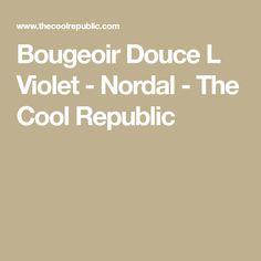 Bougeoir Douce L Violet - Nordal - The Cool Republic