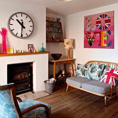Pink Artwork in London home of designer Petra Boase