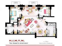 Detailed Floor Plans Reveal Apartment Layouts Of Fictional New Yorkers : Gothamist
