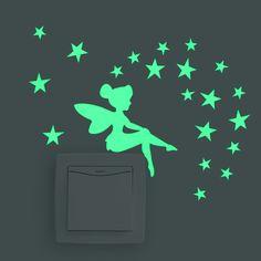 1 STÜCKE Neue Leucht Cartoon DIY Schalter Aufkleber Wandaufkleber Dekoration Fluorescent Wohnzimmer Kinderzimmer Wohnkultur