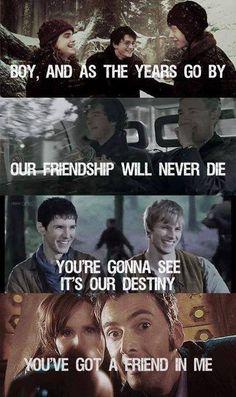 Friendship (Harry Potter, Sherlock, Merlin and Doctor Who)