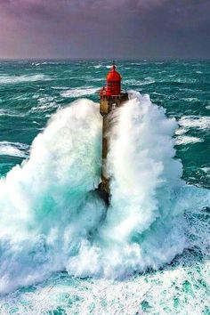La Jument Lighthouse, Bretagne, France