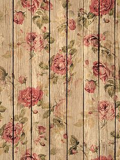 Wood panel & floral ~Background/wallpaper/lock screen