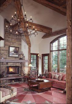 media.mywoodhome.com wp-content uploads 2011 11 Fireplace-Arkansas-gold-fieldstone-red-sandstone-mantel.jpg