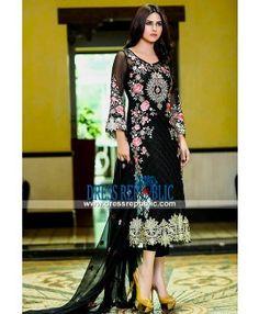 Designer Dresses Pakistani Embellish Chiffon Eid Collection 2015