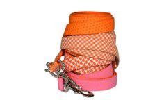 Orange Houndstooth Dog Leash