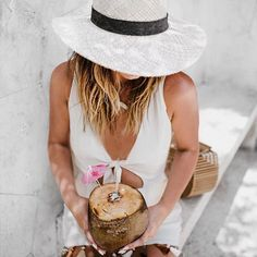 Straw hats + fresh coconuts ✌🏽How cute is this romper with NEUTRAL tassels?! Do you even know how hard that is to find these days! Obsessed with everything about this romp! Shop here: http://liketk.it/2ruGX #liketkit #freshcoconut #janessaleone #fairmontmayakoba #fairmontmoments #travelwithlovely #revolve #revolveme #tularosa #goldentan #forallthingslovely ph: @ironandhoney    #Regram via @meganrunionmcr