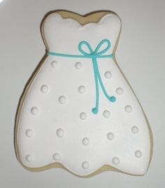 Wedding Dress Cookie Favors on Etsy, $62.00