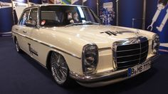 Mercedes Benz W115 Strich 8 LOWRIDER at Essen Motorshow - Exterior Walka...